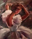 Балерина Холст, масло 60х50
