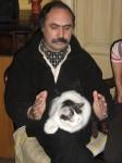 Станислав с котом в Одессе 2004