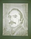 Ст. Айдинян, портрет. Автор Мухадин Кишев (Испания)