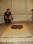 Ст. Айдинян на могиле Леонардо да Винчи